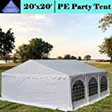 Cheap DELTA Canopies Budget PE Party Tent Canopy Shelter 20'x20′ – White
