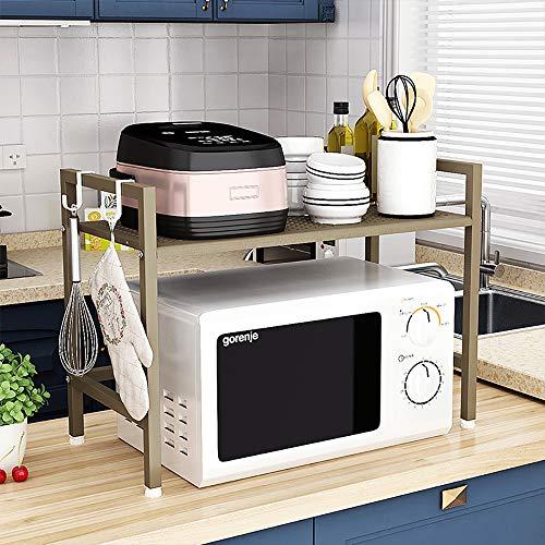 SINGAYE Kitchen Storage Rack Microwave Oven Rack,2-Tiers Storage Shelf, - Oven Tier Toaster Double