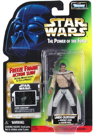 Star Wars Power Of The Force Freeze Frame Lando Calrissian In Generals Gear Action Figure 3 75 Inches
