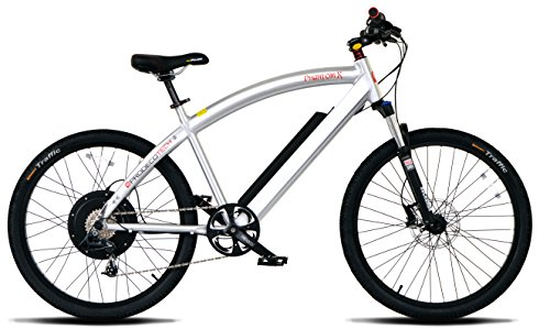 "ProdecoTech Phantom X V5 36V600W 8 Speed Electric Bicycle 14Ah Samsung Li Ion, Brushed Aluminum, 18""/One Size"