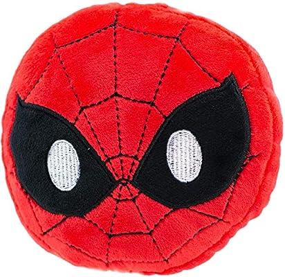 Buckle-Down Dog Toy Octagon Flyer Spider Man Pose Spider Icon Blue