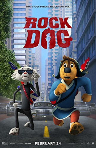 ROCK DOG (2016) Original Authentic Movie Poster 27x40 - Double - Sided - Luke Wilson - JK Simmons - Eddie Lzzard - Lewis Black