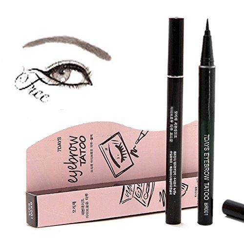 Fx Special Eye (7 Days Eye Brow Eyebrow Tattoo Pen Liner Waterproof Long Lasting Makeup Eyebrow Pen (Light Brown))