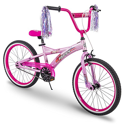 Huffy Kids Bike for Girls, Go Girl 20 inch Pink & Purple Classic 16' Single Light