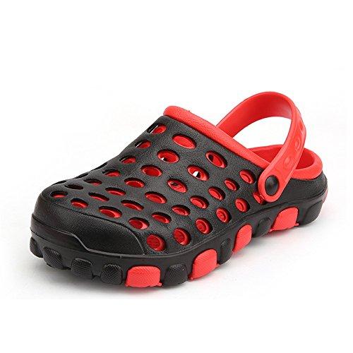 Wenquan Mules Rouge Plat De Vert Mules Summer Mules Shoes Taille Sandales Talon sur 43 Slip 2018 Vamp Slip Mens Color Imperméables Plage sheos EU des qrScWzwXr