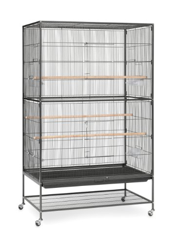 Prevue Hendryx F050 Pet Products Wrought Iron Flight Cage, X-Large, Hammertone Black
