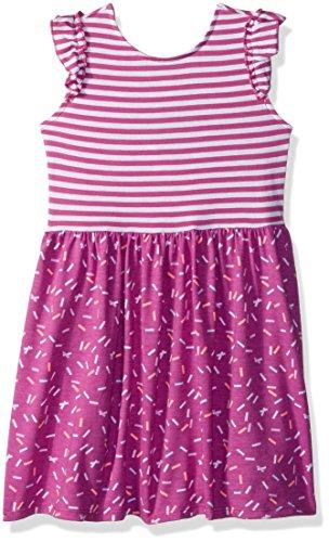 Gymboree Dress Girls - Gymboree Girls' Toddler Two-Tone Printed Knit Dress, Fuchsia Stripe, 5T