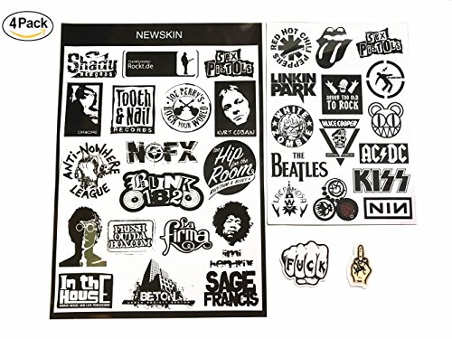 Punk Music Band Stickers Travel Airline Plane Patterns Stickers Black Luggage Suitcase Laptop Car Bumper Waterproof Travel Stickers Punk Style Decor Labels