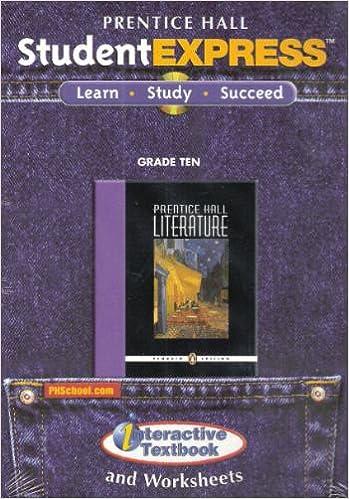 PRENTICE HALL LITERATURE STUDENT EXPRESS CD ROM GRADE 10 2007 ...