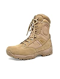 """DREAM PAIRS DELTA-M Men's 8"""" Inches Military Tactical Duty Rubber Sole Work Boots"""