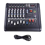 AW 6 Channel Professional Powered Mixer with USB Slot Power...
