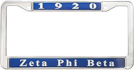 Zeta Phi Beta Standard Letters//Name Silver License Plate Frame
