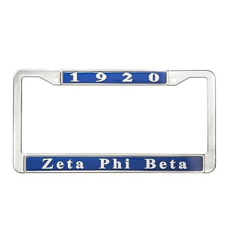 Amazon.com : Zeta Phi Beta Sorority New Metal License Plate Frame ...