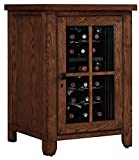 Tresanti Dakota Right Wine Pier Cabinet, Caramel Oak