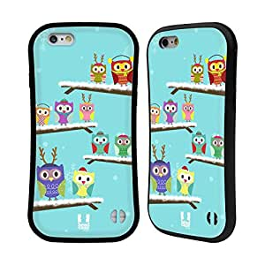 Head Case Designs Winter Owl Xmas Hybrid Gel Back Case for Apple iPhone 6 4.7