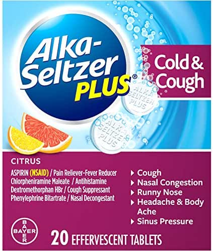 Digestion & Nausea: Alka-Seltzer Plus Cold & Cough