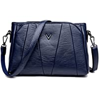 Sanxiner Women's Crossbody Bag Classic Purse Clutches Bags Shoulder Handbags (A-Blue)