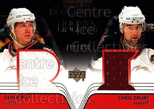 (CI) Derek Roy, Chris Drury Hockey Card 2003-04 Upper Deck Rookie Update 173 Derek Roy, Chris Drury - Chris Drury Hockey