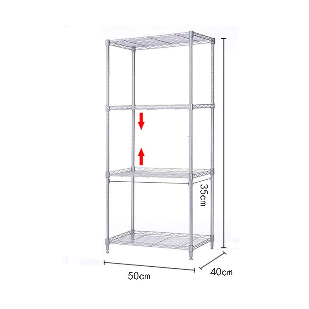 HUO Length 55 Wide 40 Kitchen Rack Bathroom Bathroom Balcony Floor Multi-Layer (Size : 120C) by Kitchen shelf (Image #4)