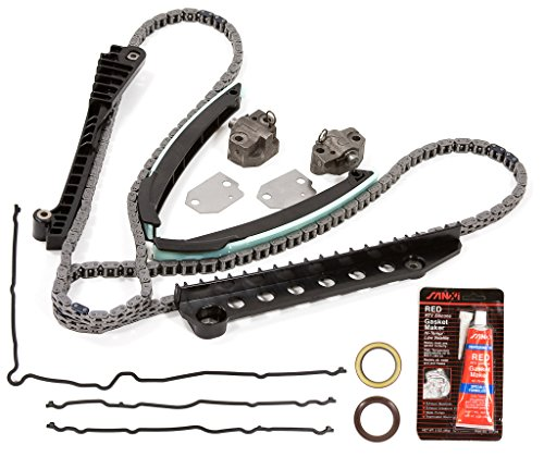 (Evergreen TKTCS6054NG Fits 97-13 Ford F150 F250 E150 E250 Expedition Excursion Lincoln 5.4 SOHC 16V VIN L / 6.8 SOHC 20V VIN S Timing Chain Kit w/o Gears Timing Cover Gasket )