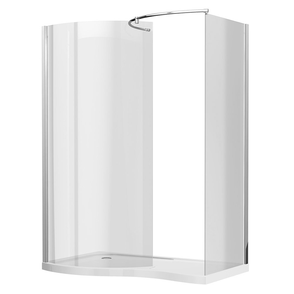 Ventura Curved Walk In Shower Enclosure with Tray L Hand: Amazon.co ...