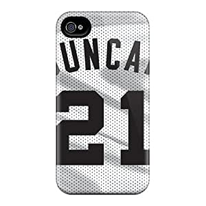 Anti-Scratch Hard Cell-phone Case For Iphone 4/4s With Provide Private Custom HD San Antonio Spurs Skin JonBradica