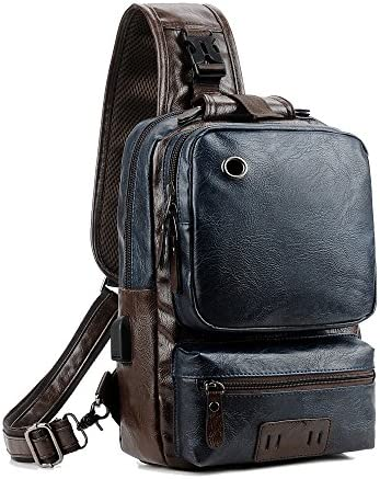 Vintage Leather CrossBody Capacity Backpack product image