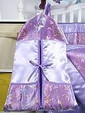 SoHo Lavender Butterfly Silky 10pcs Baby Crib Bedding set