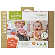 Infantino Squeeze Pouches, 4-Fl Oz,50 count