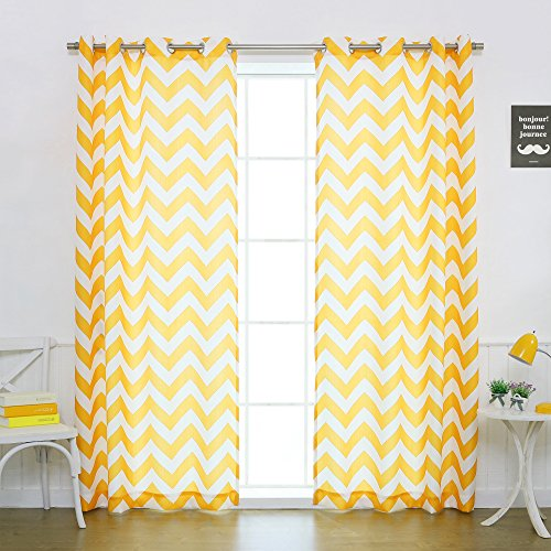 Yellow Chevron Curtains: Amazon.com