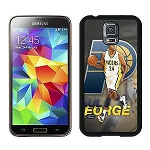 Popular And Unique Custom Designed Cover Case For Samsung Galaxy S5 I9600 G900a G900v G900p G900t G900w With Indiana Pacers Paul George 1 Black Phone Case