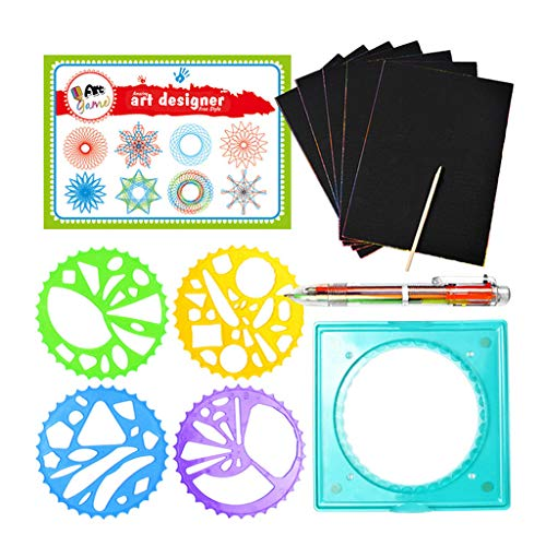 Livoty Novelty Fun Magic Flower Ruler Set Children's Puzzle Educational Toy