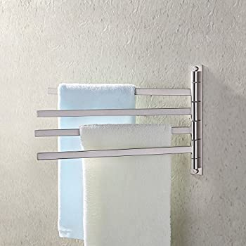 KES Bath Towel Holder Swing Hand Towel Rack SUS 304 Stainless Steel Bathroom  Swivel Towel Bar