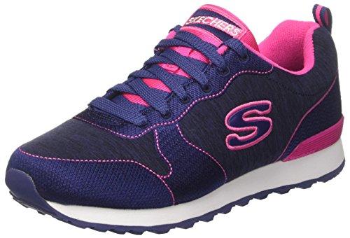 Skechers Og 85-Quick S, Zapatillas para Mujer, Azul Marino/Rosa Azul (Nvpk)