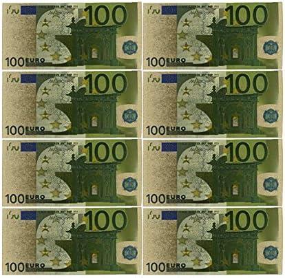 CHENTAOCS コレクションやギフトEUマネー絶妙なクラフト用カラーユーロ紙幣10個入り/ロット20 EUR金箔紙幣 使いやすい (色 : E)