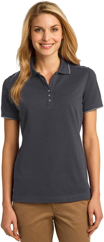 Port Authority Ladies Rapid Dry Tipped Polo