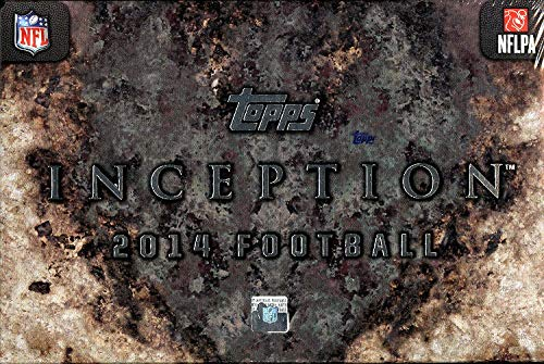 2014 Topps Inception Football Cards Hobby Box (1 Pack/Box, 7 cards/Pack) - 2 Autographs or Autograph Relics Per Box, 1 Jumbo Jersey or Patch Relic Per Box Plus 2 Base Cards & 2 Parallels (8/6 Release Date) - Possible Rookie Autographs of Johnny Manziel, Blake Bortles, Sammy Watkins, Teddy Bridgewater and more!