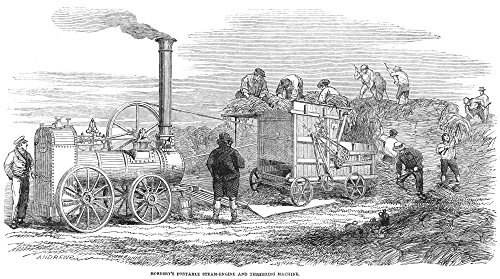 (Steam Thresher 1851NhornsbyS Steam-Driven Threshing Machine Demonstrated In The Open Field At The Great London Exhibition Of 1851 English Engraving Poster Print by (18 x 24))