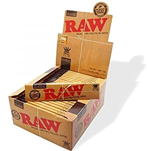RAW King Size Slim Rolling Papers, Pack of 5: Amazon.co.uk ...