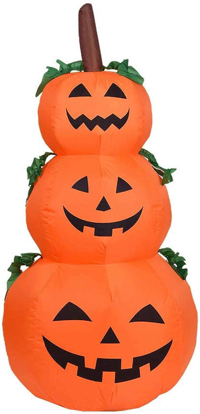 Cefgr Decoration Gonflable Gonflable De Jardin De Lampe De Citrouille D Halloween De Decoration De 1 2 Metres Amazon Fr Vetements Et Accessoires