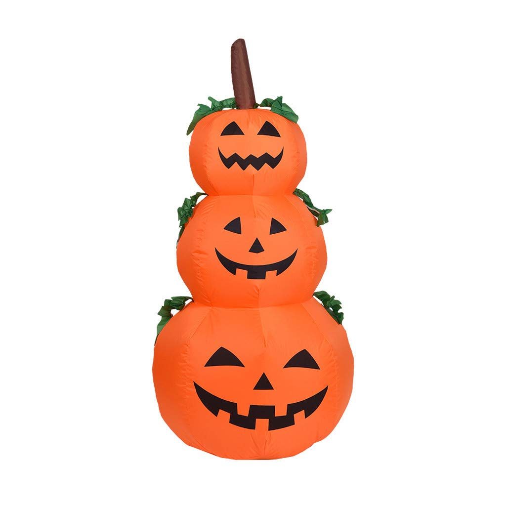 CreazyBee Halloween Pumpkin Inflatable 1.2 Meter Decoration Inflatable Inflatable Lamp Garden Decoration by CreazyBee