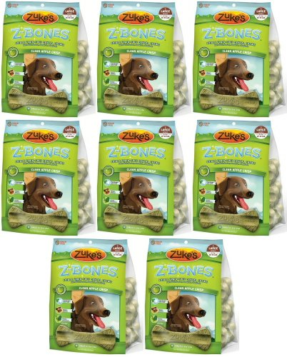Zukes Z-Bones Edible Dental Chews Large Apple Crisp 7.5lb