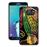 S6 Edge+ Case,Chicago Blackhawks Black Samsung Galaxy S6 Edge Plus Screen Phone Case Unique and Grace Design