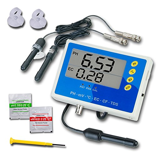 (Rise Digital pH °C ORP EC CF TDS PPM Monitor Water Meter Tester with Backlight)