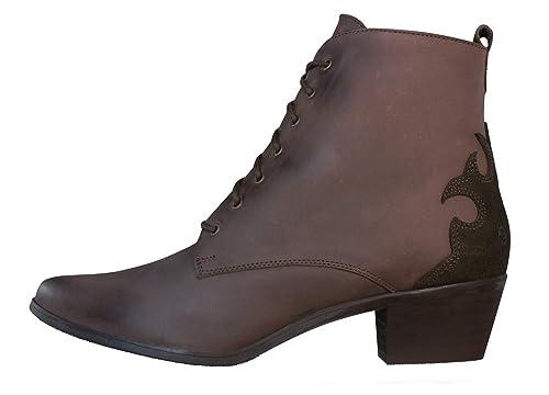 Sixtyseven - 67 oleato serraje zapatilla/zapato para mujer con cordones, marrón - marrón, 3 uk / 36 EU