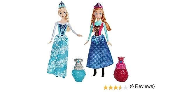 Amazon.es: Frozen - Pack con muñecas Ana y Elsa, color mágico ...