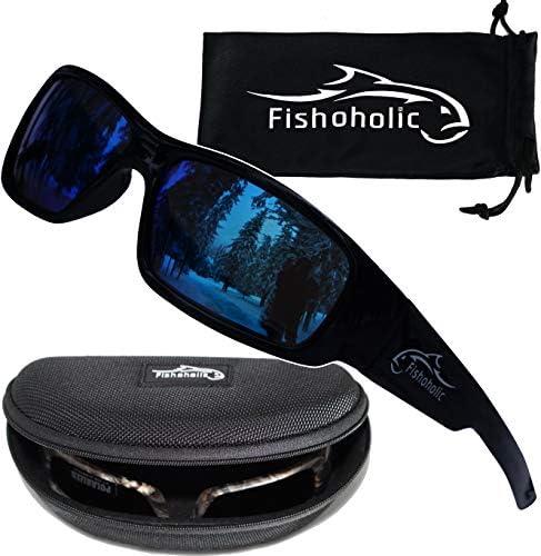 6 Color Options UV400 Fishoholic Polarized Fishing Sunglasses L//XL