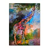 Giraffe by Richard Wallich, 18x24-Inch Canvas Wall Art