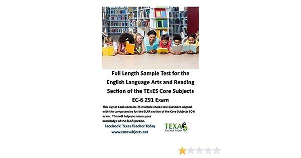 Amazon com: ELAR Full Length Sample Test for English Language Arts
