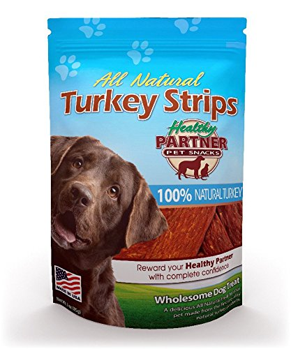 Healthy Partner Turkey - Healthy Partner Pet Snacks All Natural Turkey Strips, 6-Ounce Bags (Pack Of 4)